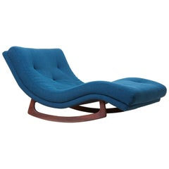 Signed Adrian Pearsall Rocking Chaise in Kvadrat Fabric