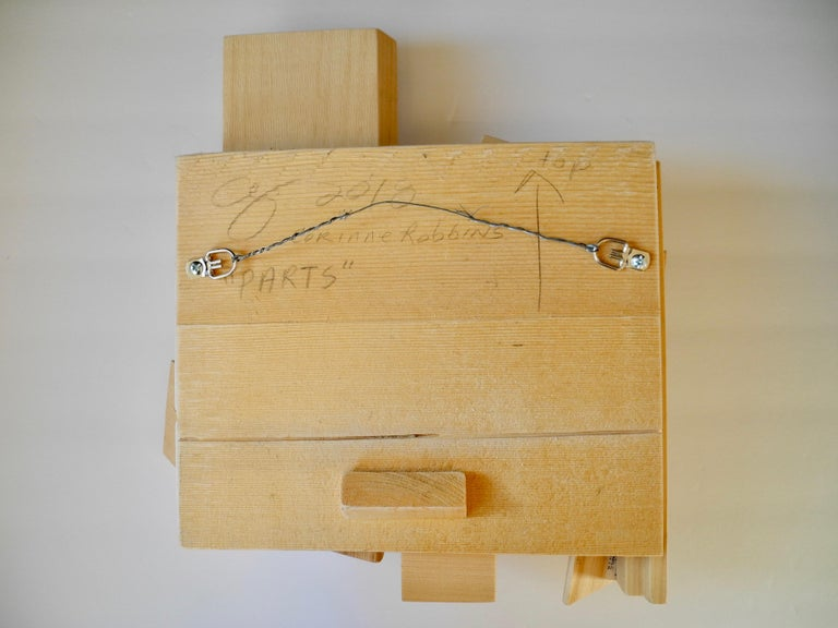 Signed and Dated Handmade Modern Original Assemblage Wood Wall Sculpture For Sale 3