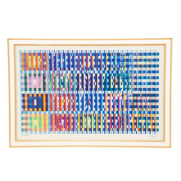 Israeli Signed and Numbered Lenticular Agamograph by Yaacov Agam