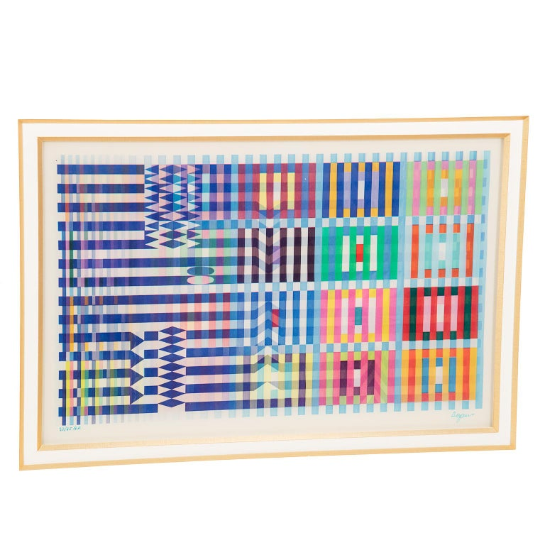 Anodized Signed and Numbered Lenticular Agamograph by Yaacov Agam