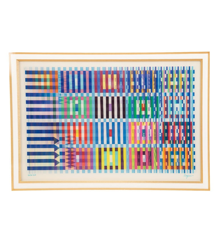 Signed and Numbered Lenticular Agamograph by Yaacov Agam In Excellent Condition In Toronto, ON
