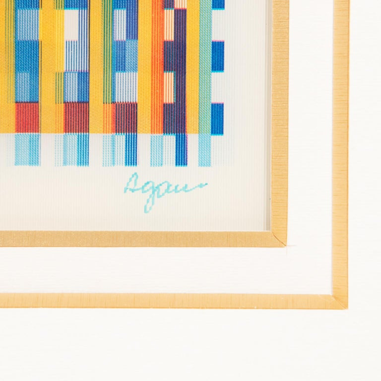 Late 20th Century Signed and Numbered Lenticular Agamograph by Yaacov Agam
