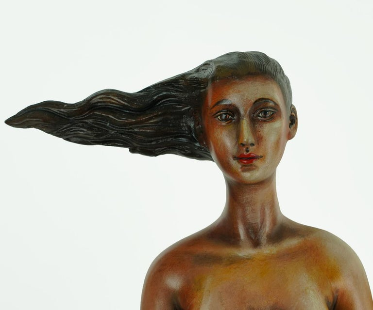 Signed and Numbered Sergio Bustamante Ceramic Mermaid on Shell For Sale 2