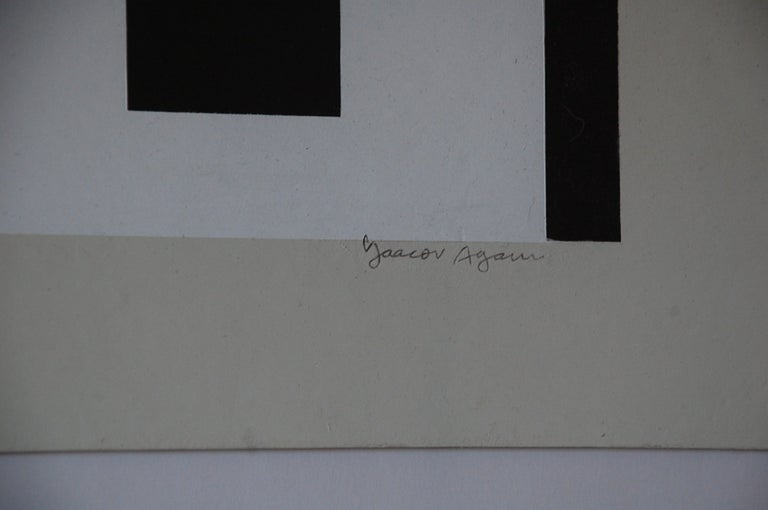 Late 20th Century Signed and Numbered Yaacov Agam Lithograph Colors of Love For Sale