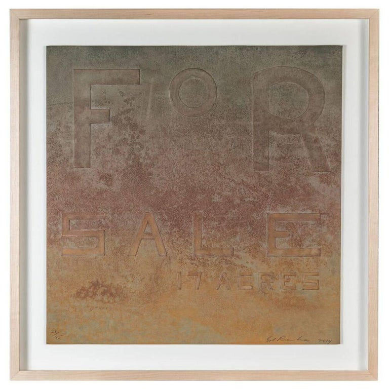 Signed and Numbered, Embossed, Ed Ruscha Lithograph