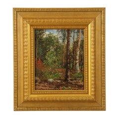 Signed Antique Barbizon Landscape Painting by Frank Russell Green