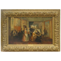 """Signed Antique Painting """"The Bethroval"""""""