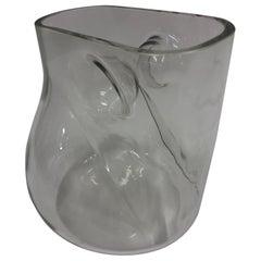 Signed Barbini Modernist Murano Glass Vase