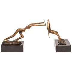 Signed Bob and Tom Bennett Bronze Sculptures, circa 1980, Artists Proof