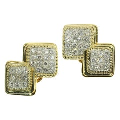 Signed Boucheron Paris Estate 3.60 Carat Diamond Earclips Gold and Platinum