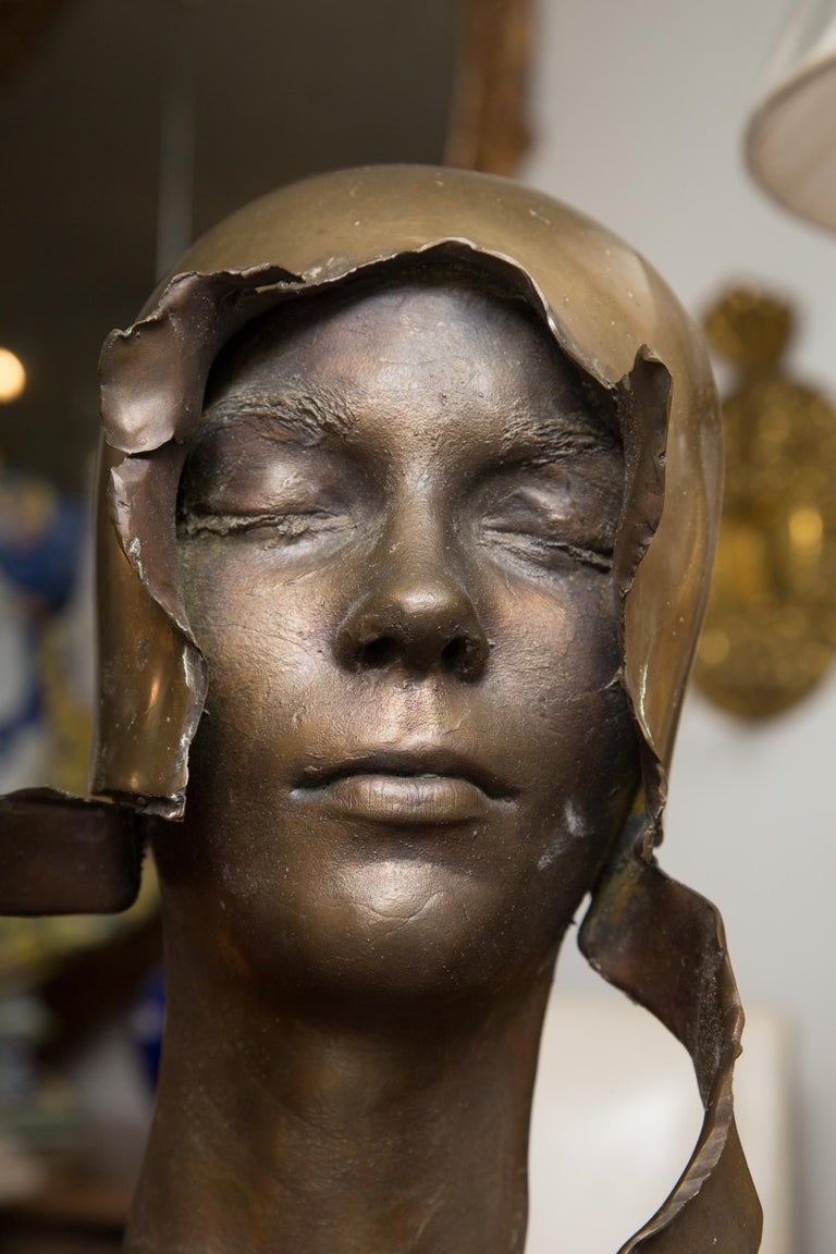 Signed Bronze Bust Signed and Dated, William Ludwig In Good Condition For Sale In WEST PALM BEACH, FL
