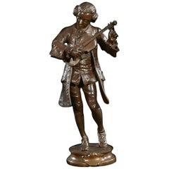 Signed Bronze Figure of a Young Mozart