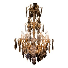 Signed by Baccarat French Louis XV Style Gilt-Bronze and Crystal Chandelier