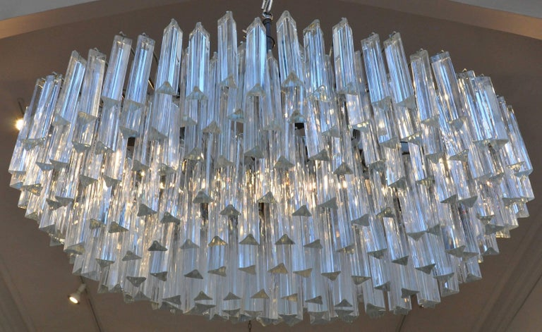 Period midcentury Camer Venini glass chandelier