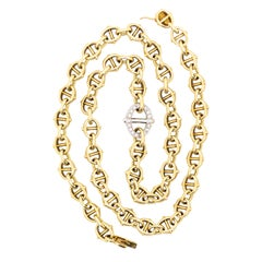 Cartier 18 Karat Yellow Gold and 1 Carat Diamond Collar