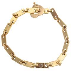 Cartier France Heart Clasp 18 Karat Gold Link Bracelet