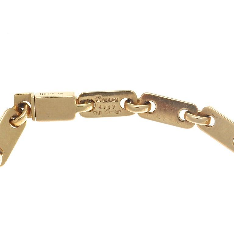 Contemporary Cartier France Heart Clasp 18 Karat Gold Link Bracelet