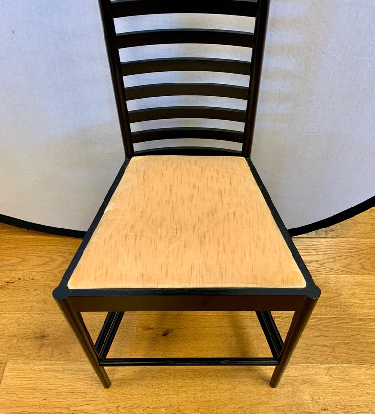 Mid-Century Modern Signed Cassina Charles Rennie Mackintosh Hill House Chair For Sale