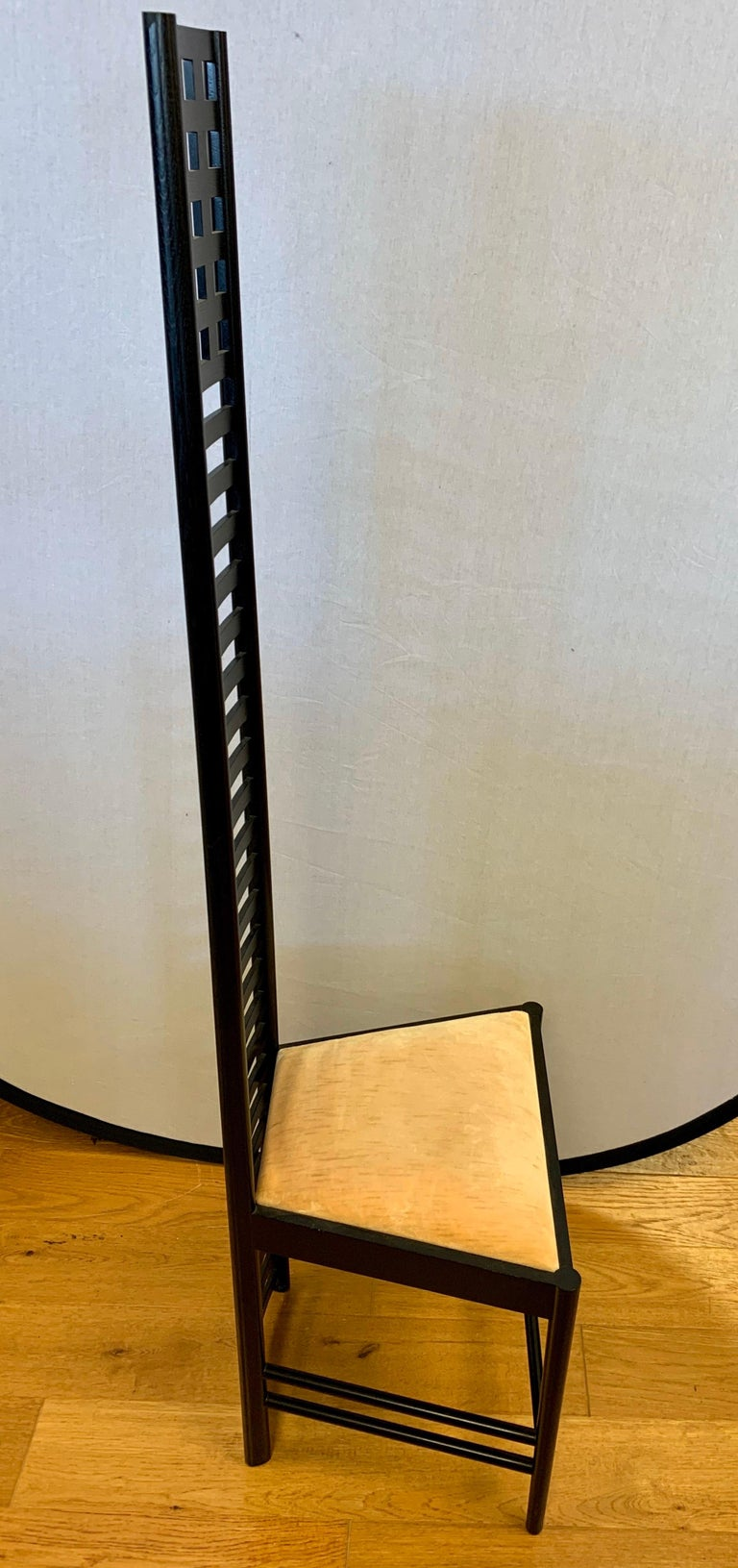 Italian Signed Cassina Charles Rennie Mackintosh Hill House Chair For Sale
