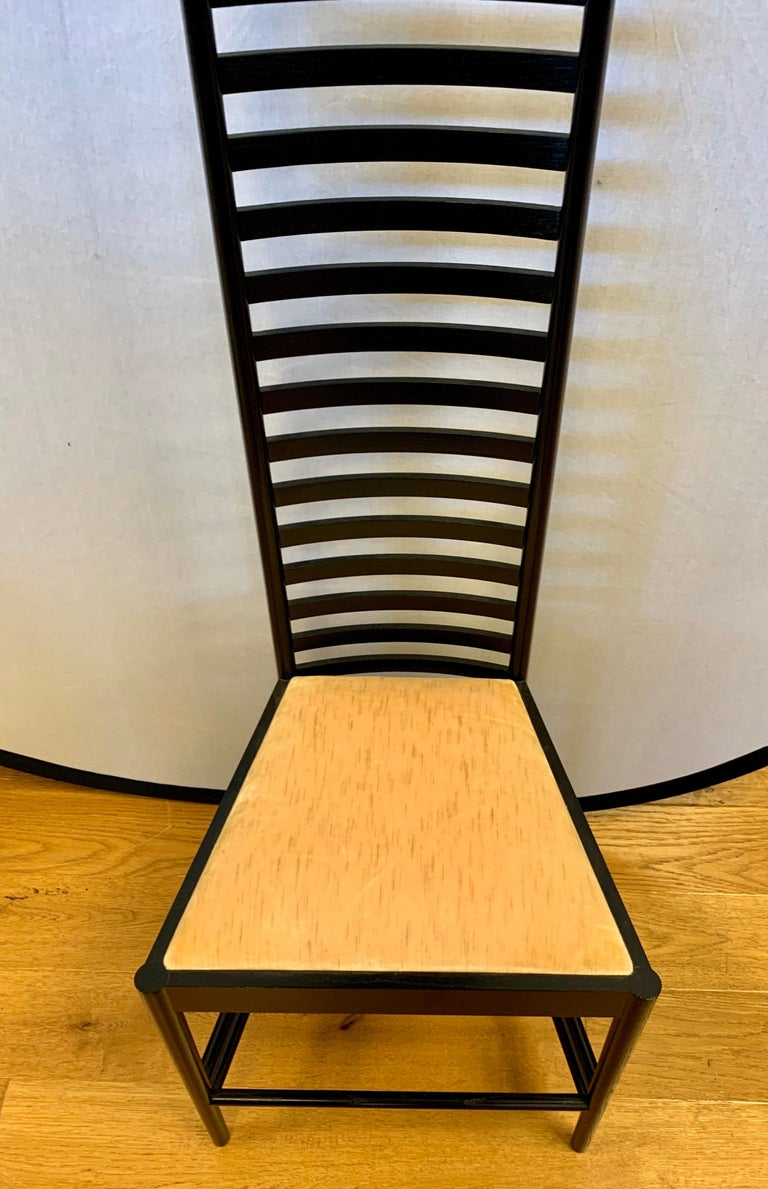 Signed Cassina Charles Rennie Mackintosh Hill House Chair In Good Condition For Sale In West Hartford, CT