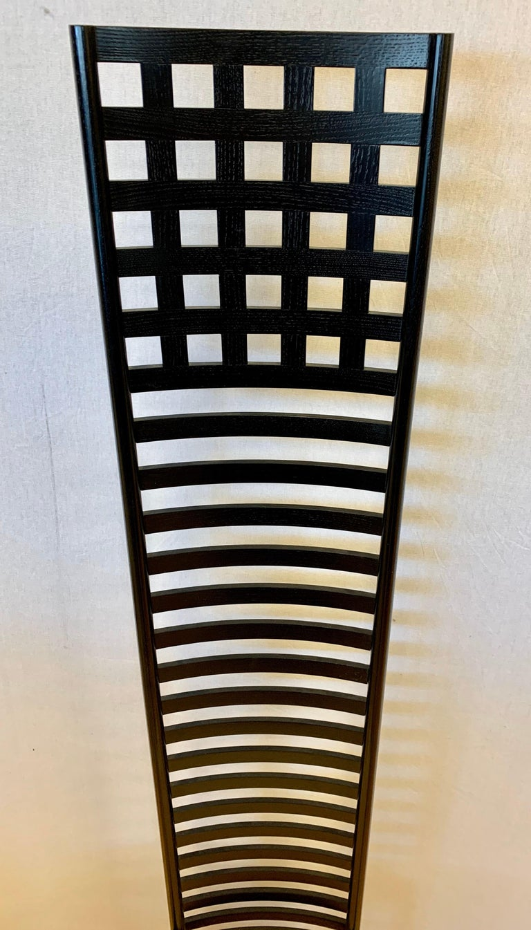 Late 20th Century Signed Cassina Charles Rennie Mackintosh Hill House Chair For Sale