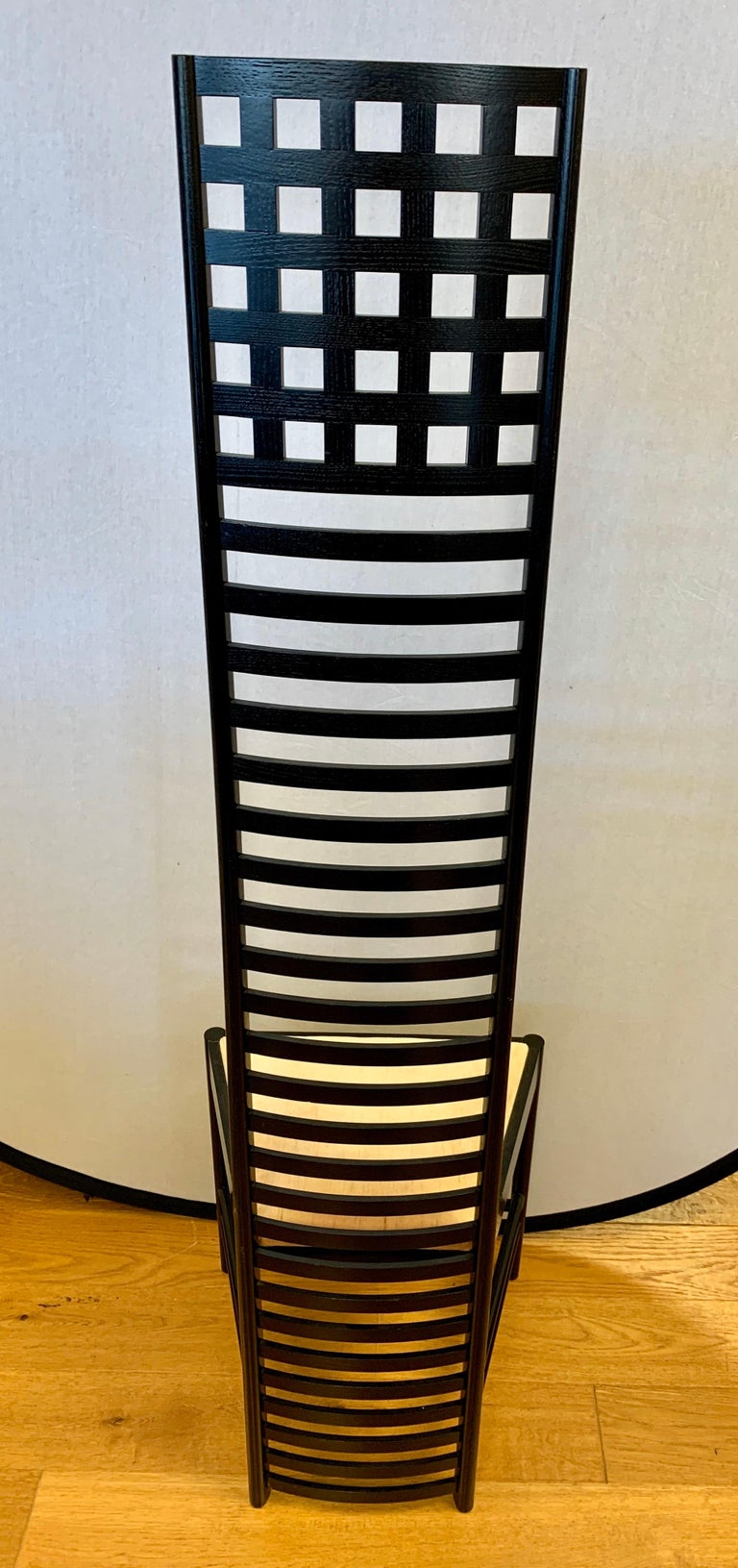 Fabric Signed Cassina Charles Rennie Mackintosh Hill House Chair For Sale