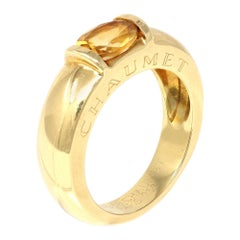 Signed Chaumet Paris Citrine Ring in 18k