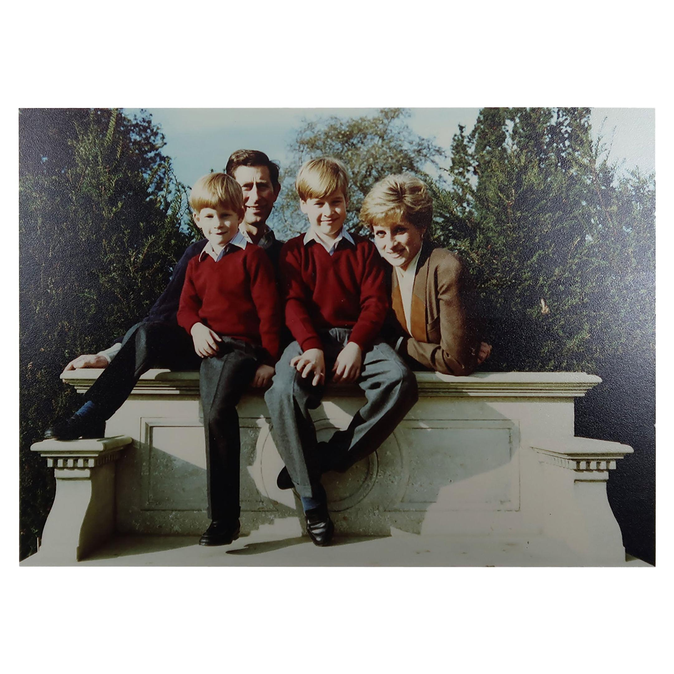 Signed Christmas Card / Photograph from Prince Charles and Princess Diana, 1990