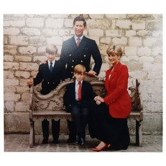 Signed Christmas Card / Photograph from Prince Charles and Princess Diana, 1991
