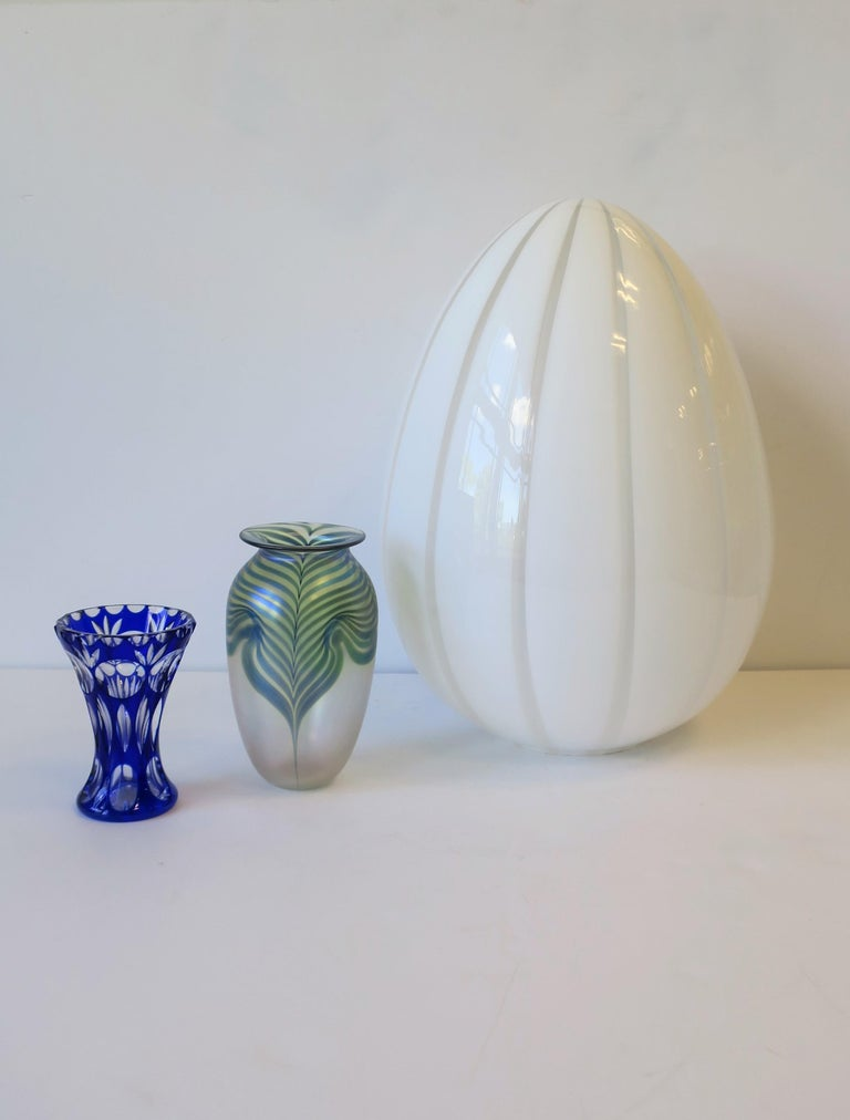 Signed Contemporary Art Glass Vase in the Art Nouveau Style, circa 1980s For Sale 2