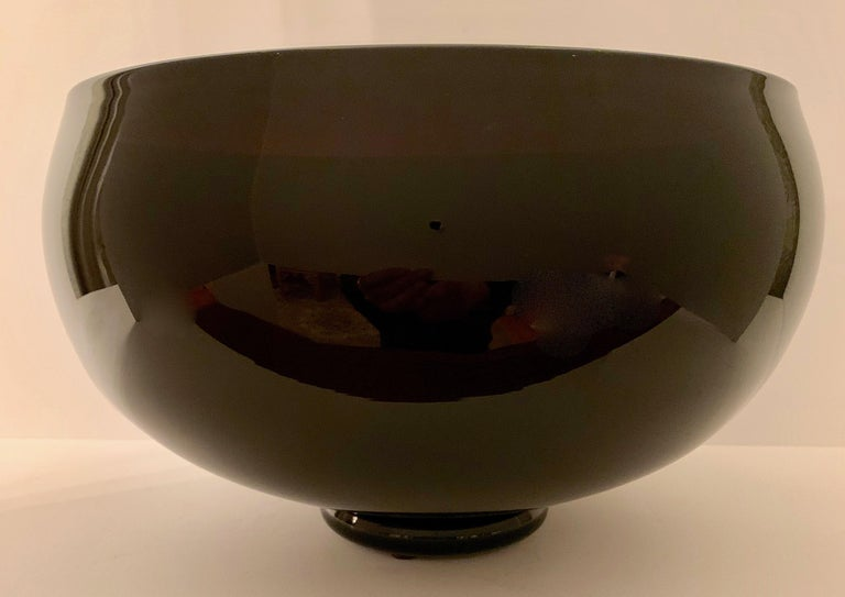 Signed Correia Art Glass Footed Bowl In Good Condition For Sale In Los Angeles, CA