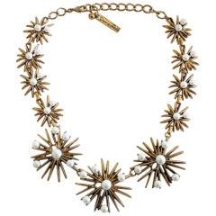 Signed Couture Oscar de la Renta Starburst necklace