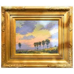 Signed David Henry Gilt Framed Oil on Board, Landscape