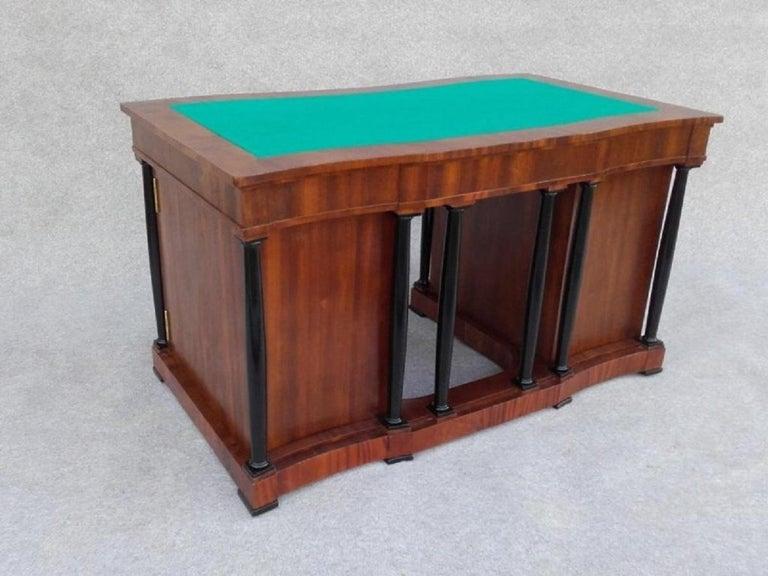 Polish Signed Desk Biedermeier Mahogany from 1900 For Sale