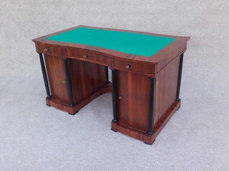 Signed Desk Biedermeier Mahogany from 1900 For Sale 2