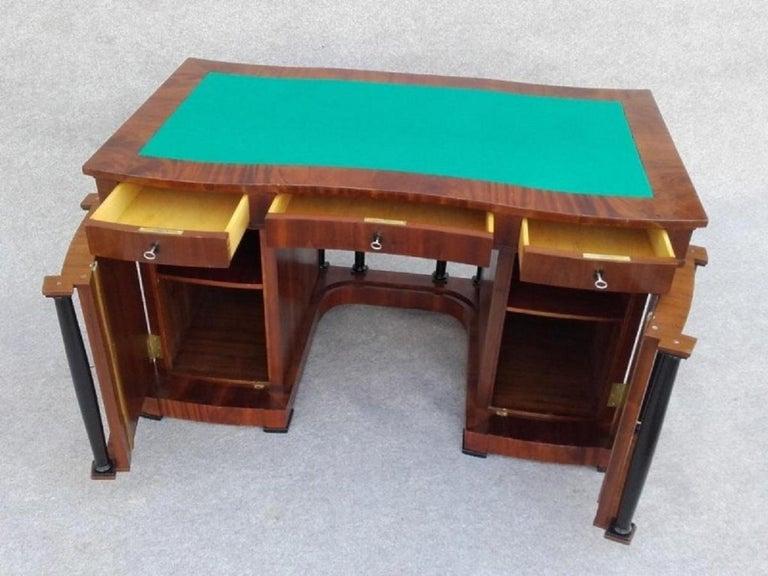 Signed Desk Biedermeier Mahogany from 1900 For Sale 3