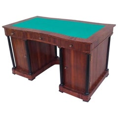 Signed Desk Biedermeier Mahogany from 1900