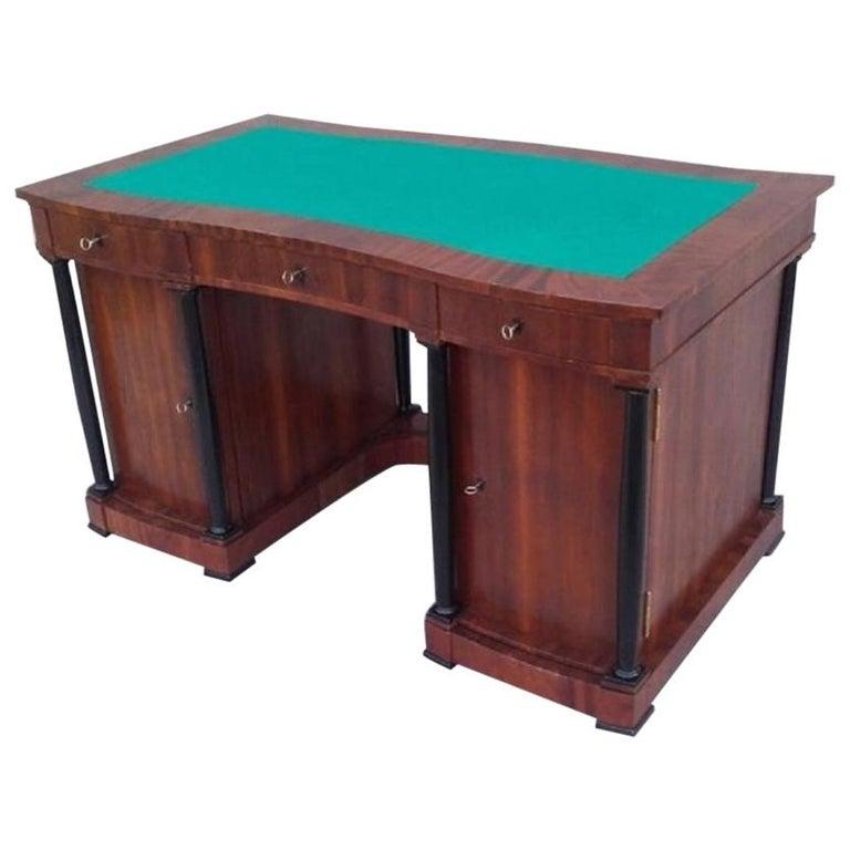 Signed Desk Biedermeier Mahogany from 1900 For Sale