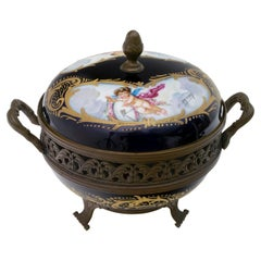 Signed E. Froger 19th Century French Porcelain Potpourri by Sevres, 1880