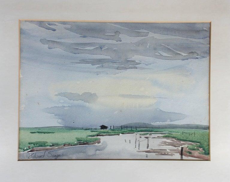 British Signed Edward Seago Watercolor