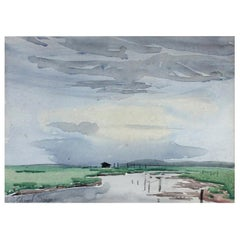 Signed Edward Seago Watercolor