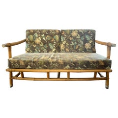 Signed Ficks Reed Bamboo Campaign Loveseat John Wisner Far Horizons Collection
