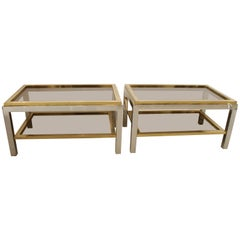 """Signed """"Flaminia"""" Side Tables by Willy Rizzo"""