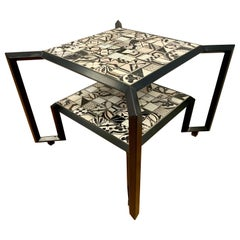 Signed Francesco Della Femina Spider Tile Cocktail Coffee Table