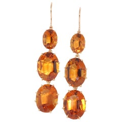 Fred Leighton Triple Drop Citrine Earrings