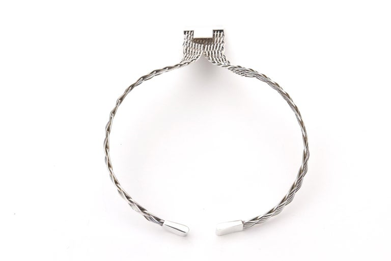 Women's   French J.P. Coutrel Silver-Plate V Necklace For Sale