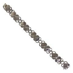 Signed Georg Jensen Vintage Heart Bracelet