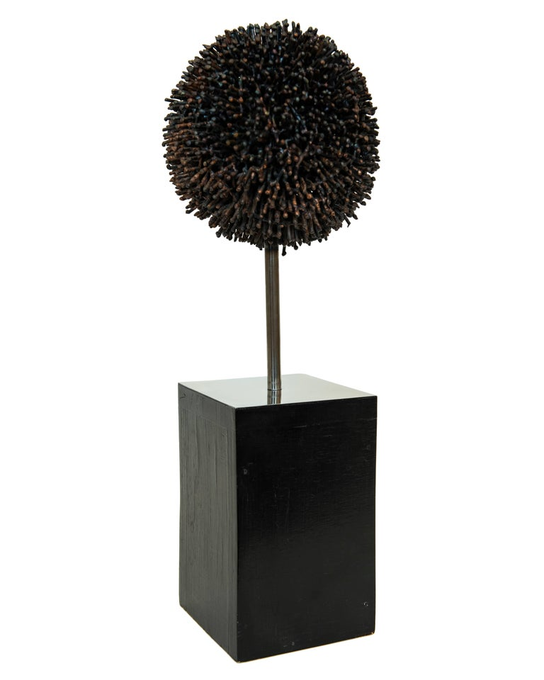 Mid-Century Modern Signed George Jolley Vintage Metal Sculpture after Harry Bertoia For Sale