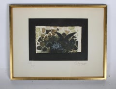 Signed Georges Braque Etching 1950, Le Nid Vert (The Green Nest) Maeght 1028