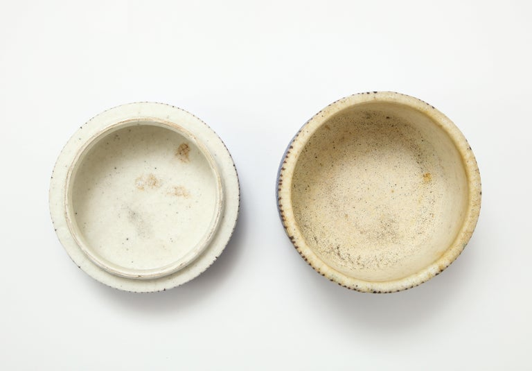 Signed Guido Gambone Ceramic Container, Italy, circa 1950 For Sale 1